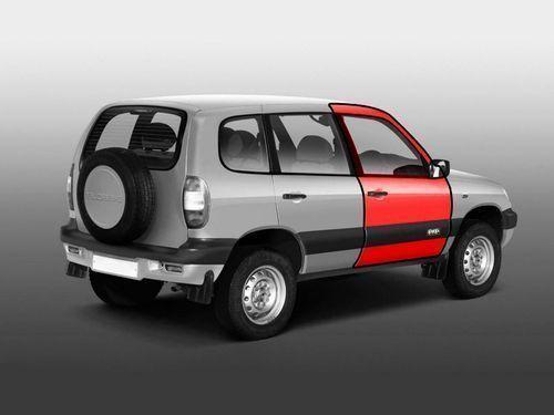 Передняя правая дверь старого образца для Chevrolet Niva до 2009