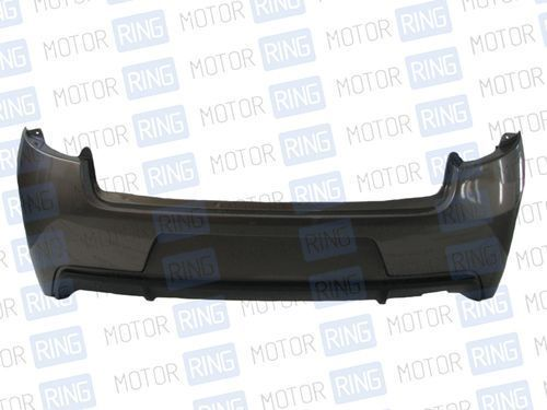 Задний бампер «Sniper Sport» в цвет кузова, без вставок для Лада Гранта седан