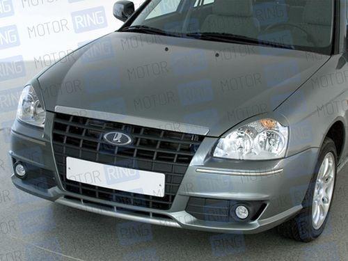 Передний бампер Shturm для Лада Приора в цвет автомобиля.