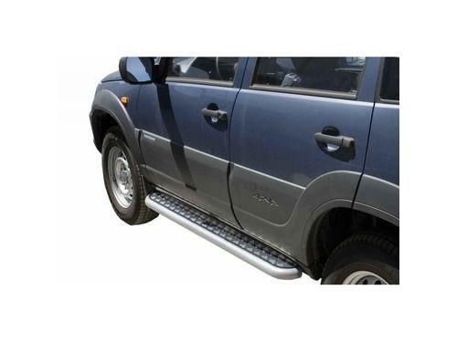 Пороги 0153 RS с алюминиевым листом для Шевроле Нива (рестайлинг)