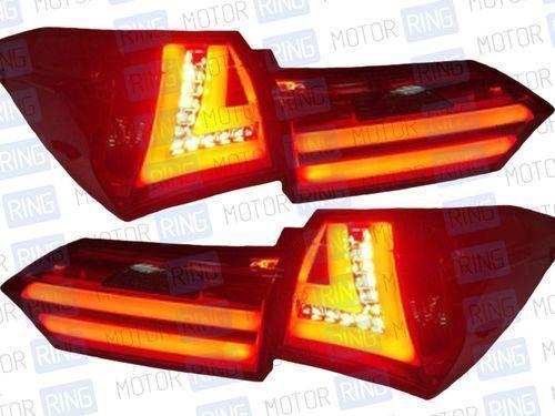 Задние фонари «Red Clear» для Toyota Corolla 2014_1