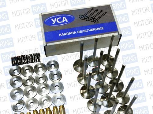 Кит-комплект УСА (облегченные клапана 32х29 (ножка 6 мм), тарелки - титан, направляющие - бронза) 2112 16 кл_1