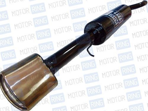 Глушитель прямоточный для ВАЗ 2110, 2111 с насадкой для штатной установки без выреза бампера