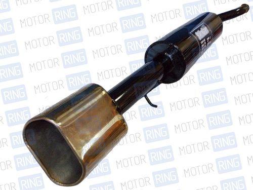 Глушитель прямоточный для ВАЗ 21099 с насадкой для штатной установки_1