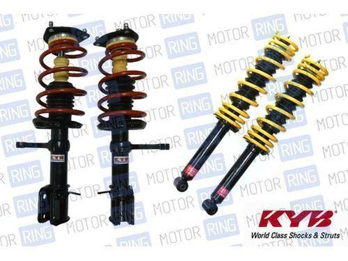 Комплект передней и задней масляной подвески в сборе «KYB Premium» (Каяба) для ВАЗ 2110-12, занижение от -25 до -50мм._1