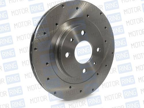 Передние тормозные диски Alnas Euro 2112 (R14, перфорация, вентилируемые)_1