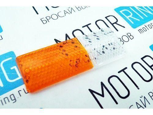 Стекло подфарника для ВАЗ 2106, Освар, правый, жёлтый._1