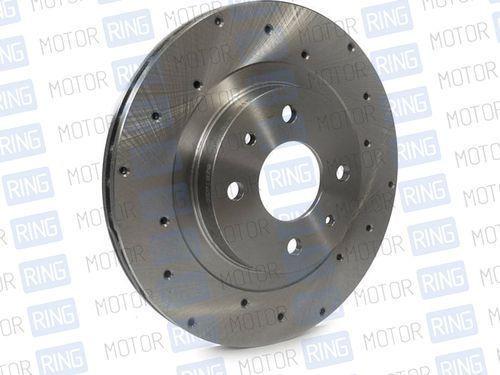 Передние тормозные диски Alnas Euro 2110 (R13, перфорация, вентилируемые)_1