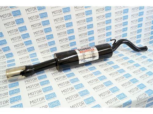 Глушитель прямоточный для ВАЗ 2112 с насадкой для штатной установки без выреза бампера _1