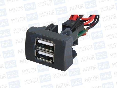USB зарядное на 2 слота вместо заглушки панели приборов ГАЗель Некст, Бизнес_1