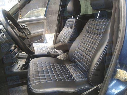 Обивка сидений (не чехлы) «Квадрат» экокожа с перфорацией на ВАЗ 2110_1
