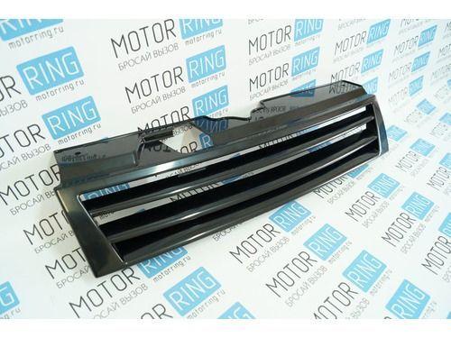 Решётка радиатора 2 лопасти черная на ВАЗ 2110-2112_1