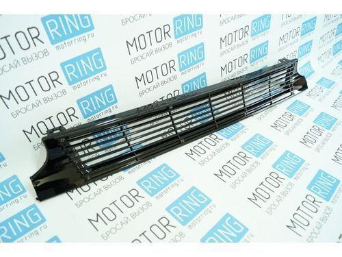 Решётка радиатора тонкие линии с перемычками черная на ВАЗ 2113-2115_1