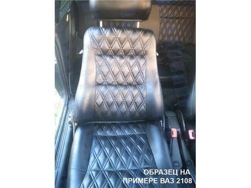 Обивка сидений (не чехлы) экокожа Ромб на Лада Нива 4х4_1