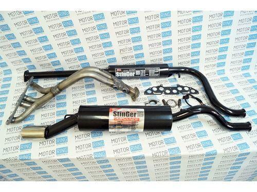 Выпускной комплект Стингер с глушителем на 8 кл ВАЗ 2108-21099 1.5л_1