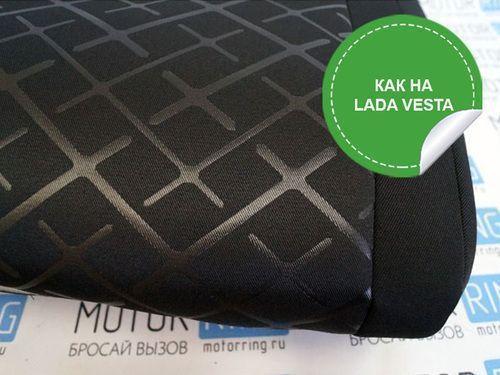 Обивка сидений (не чехлы) термотиснение Скиф на Лада Калина_1