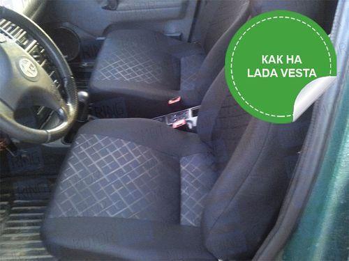 Обивка сидений (не чехлы) термотиснение Скиф на ВАЗ 2110_1