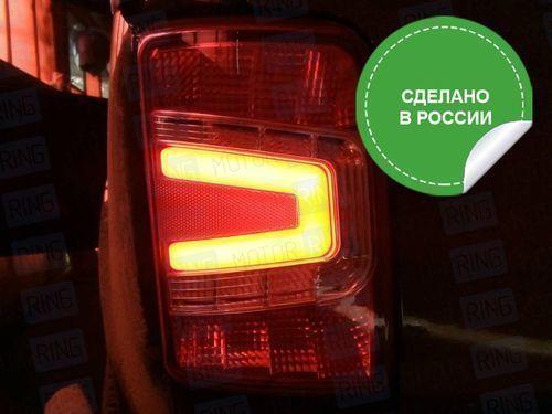 Светодиодные красные задние фонари Тюн-Авто с бегающим повторителем на Лада Нива 21213, 21214, 2131_1