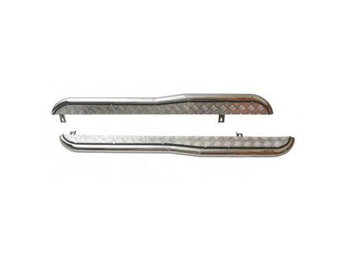 Пороги 0231 RS с алюминиевым листом с перегибом d63,5 НЕРЖ для Шевроле Нива (рестайлинг)_1