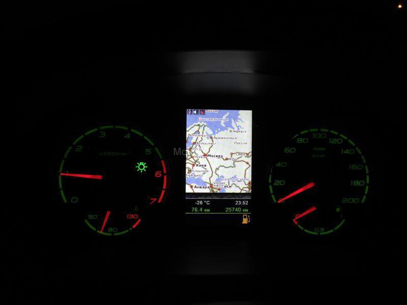 Электронная комбинация приборов с GPS навигацией Ителма на Лада Приора после 06.12_5