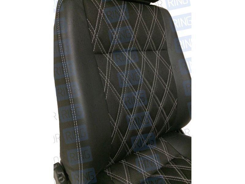 Обивка сидений (не чехлы) экокожа Ромб на Лада Нива 4х4_4