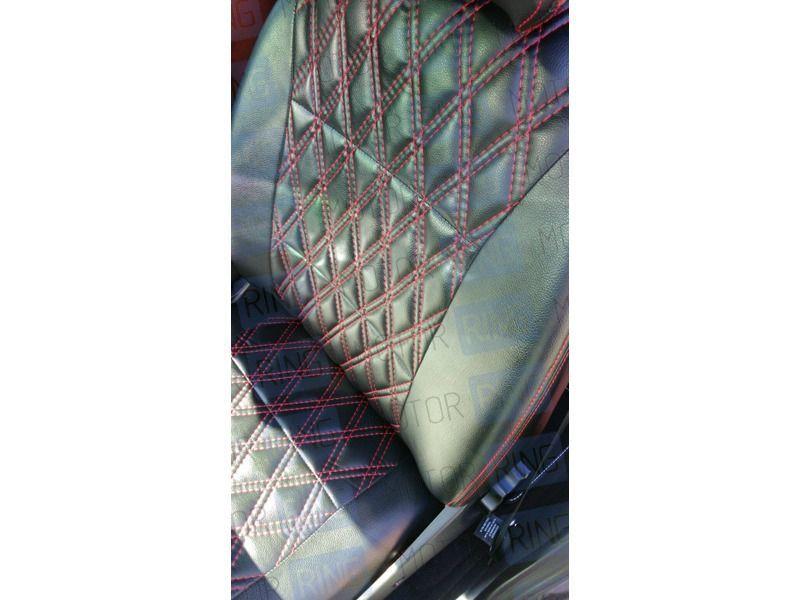 Обивка сидений (не чехлы) экокожа Ромб на Лада Нива 4х4_3