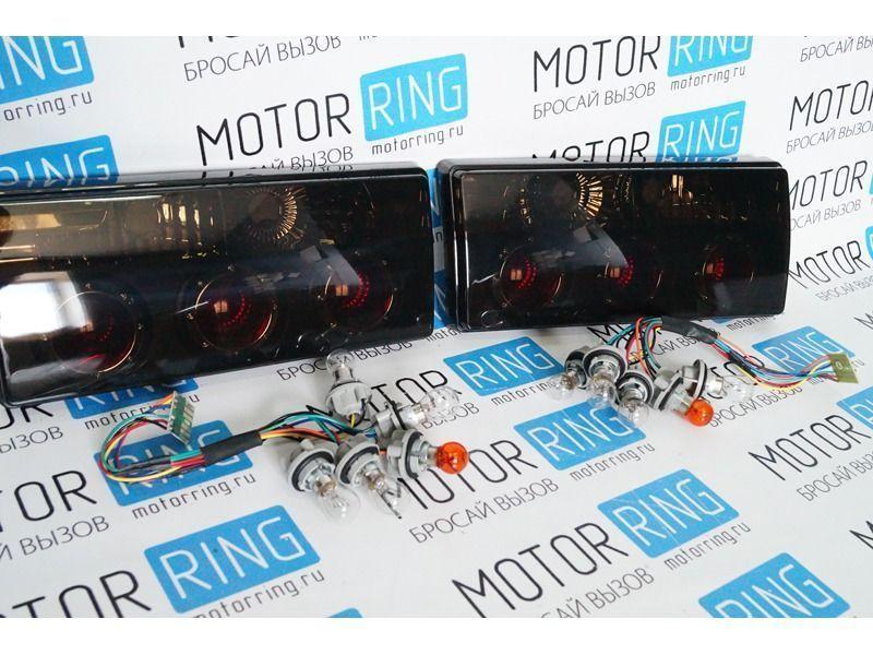 Задние фонари с кольцами тонированные на ВАЗ 2105, 2107_1