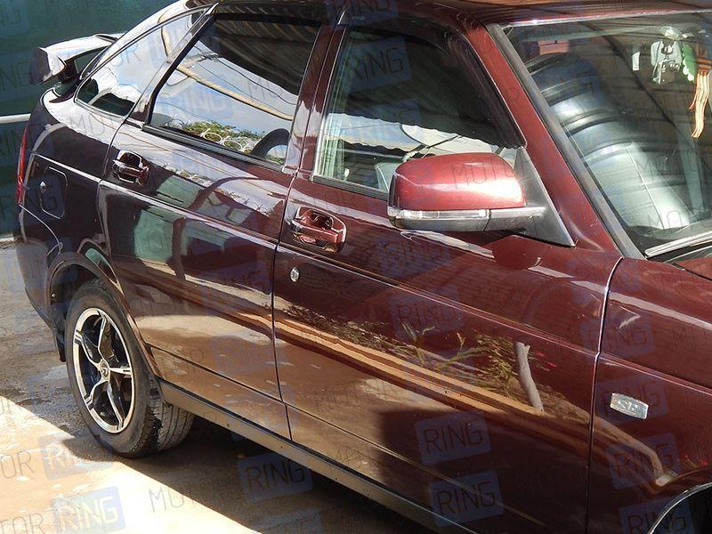 Наружные евроручки дверей 2172 Тюн-Авто в цвет на Лада Приора, ВАЗ 2110-2112_7