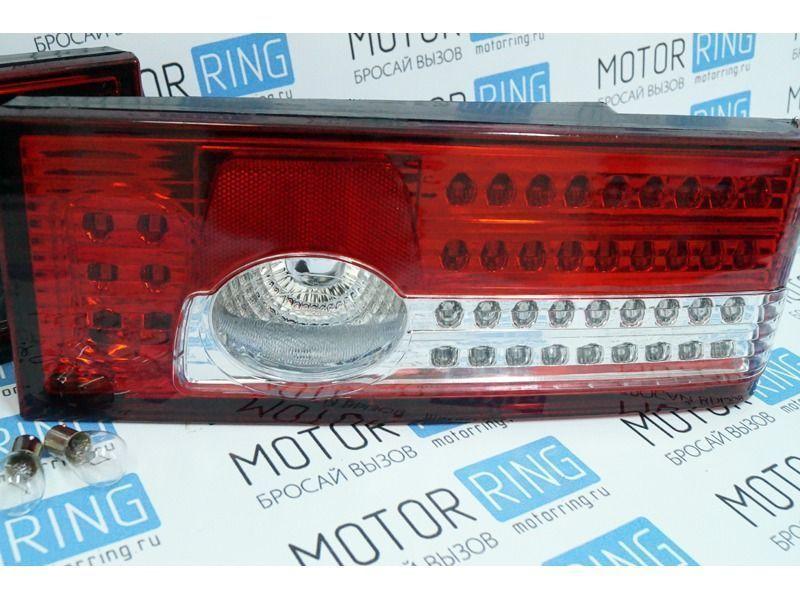 Задние диодные фонари красно-белые на ВАЗ 2108, 2113, 2109, 2114, 21099_4