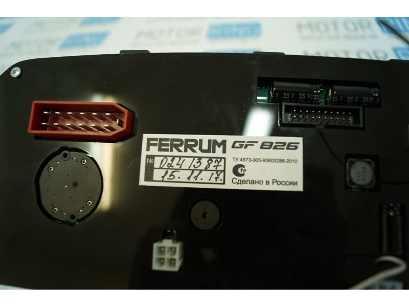 Электронная комбинация приборов Gamma GF 826 на ВАЗ 2113-2115, 2110-2112, 2108-21099_12