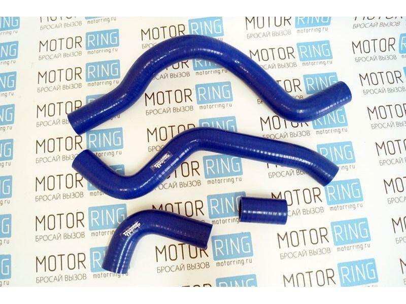 Патрубки радиатора силиконовые синие под терсмостат нового образца на ВАЗ 2110-2112 _2
