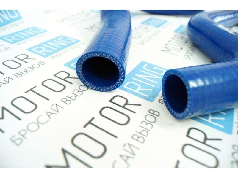 Патрубки радиатора силиконовые синие под терсмостат нового образца на ВАЗ 2110-2112 _3