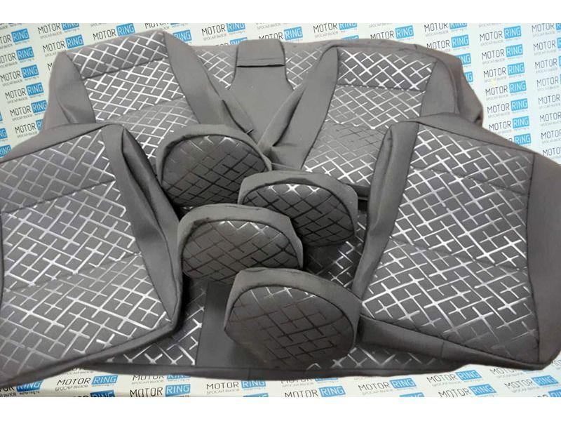 Обивка сидений (не чехлы) термотиснение Скиф на Лада Гранта_9