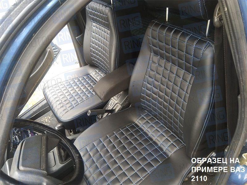 Обивка сидений (не чехлы), Квадрат экокожа с перфорацией на Лада Приора 2 седан_3