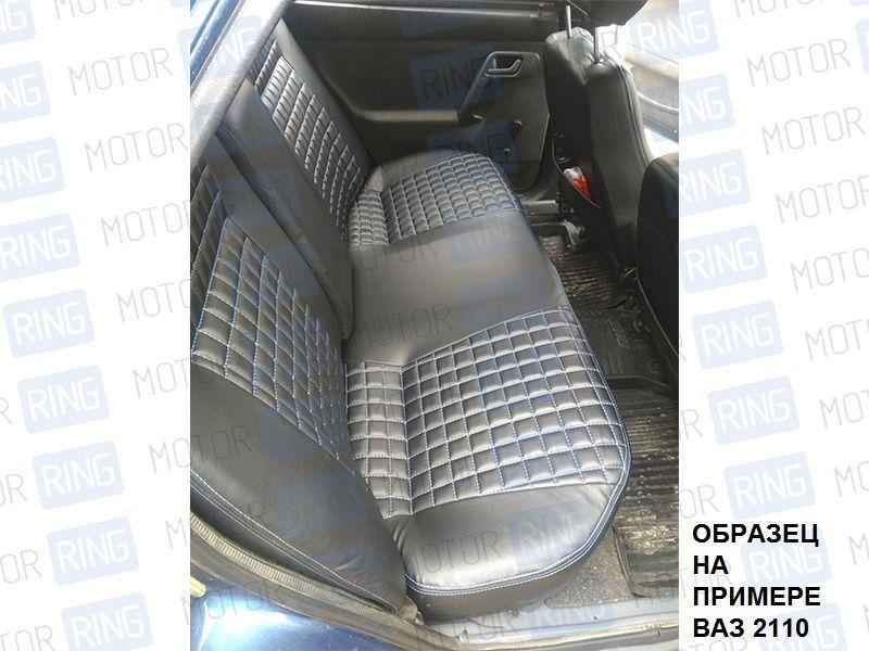 Обивка сидений (не чехлы), Квадрат экокожа с перфорацией на Лада Приора 2 седан_9