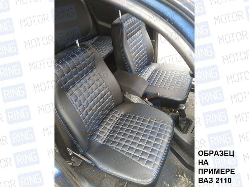 Обивка сидений (не чехлы) экокожа «Квадрат» на Лада Калина_4