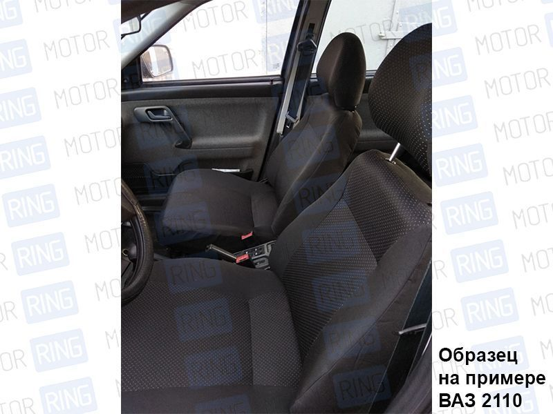 Обивка сидений (не чехлы) черная Искринка на Лада Нива 4х4_4