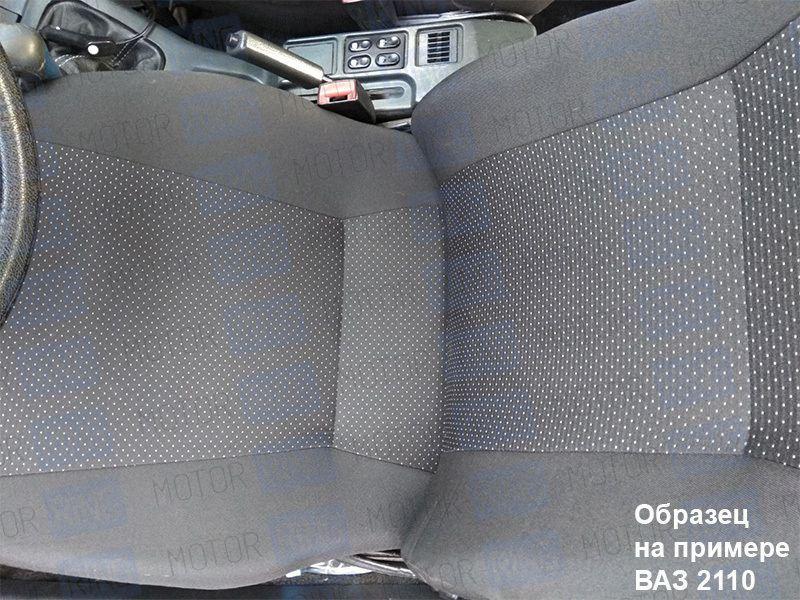 Обивка сидений (не чехлы) черная Искринка на Лада Нива 4х4_5