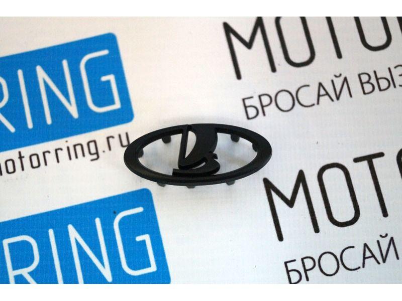 Шильдик Ладья черный матовый на руль нового образца Лада Приора 2, Калина 2, Гранта_2