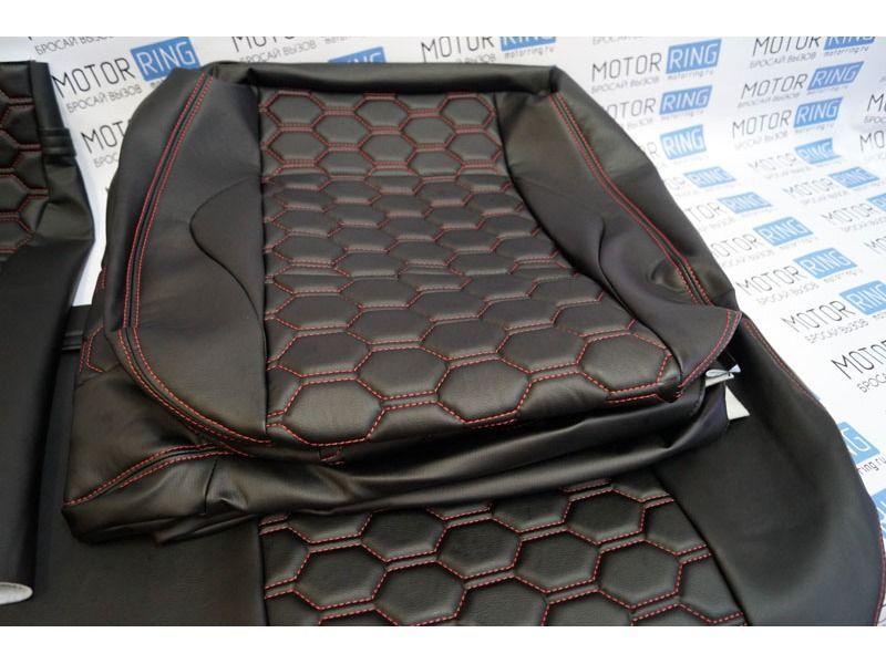 Обивка сидений (не чехлы) Соты экокожа на ВАЗ 2108-21099, 2113-2115_3