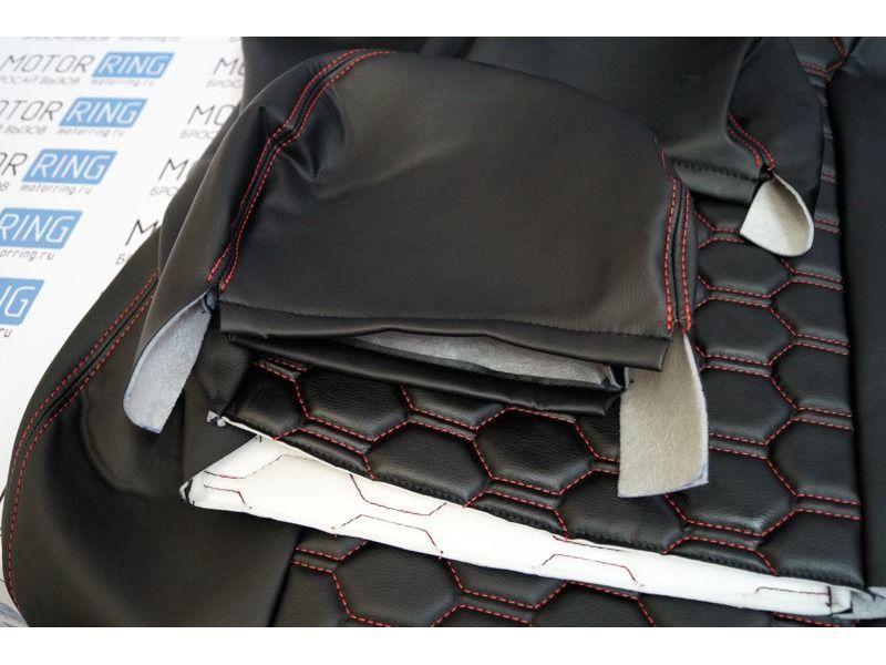 Обивка сидений (не чехлы) Соты экокожа на ВАЗ 2108-21099, 2113-2115_4