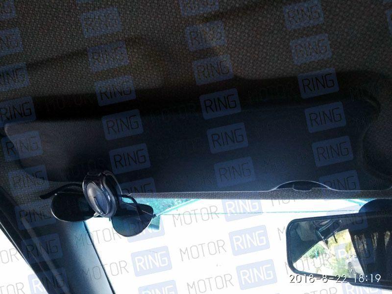 Черные солнцезащитные козырьки с зеркалом на Лада Нива 4х4_3