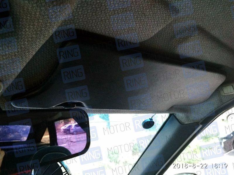 Черные солнцезащитные козырьки с зеркалом на Лада Нива 4х4_6