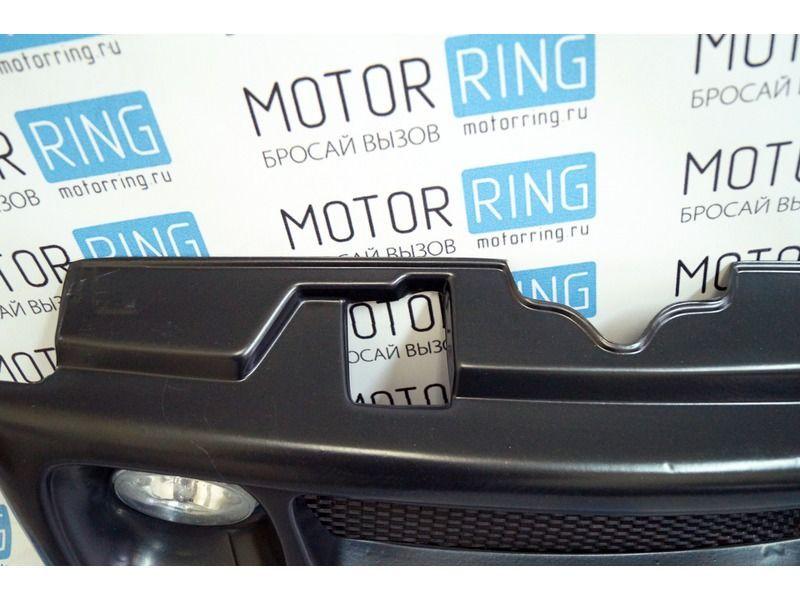 Декоративная решётка радиатора в цвет кузова с белыми ПТФ на ВАЗ 2110, 2111, 2112_6