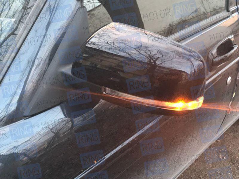 Боковые зеркала Ульяновск нового образца с электроприводом, обогревом, повторителем неокрашенные на Лада Приора_7