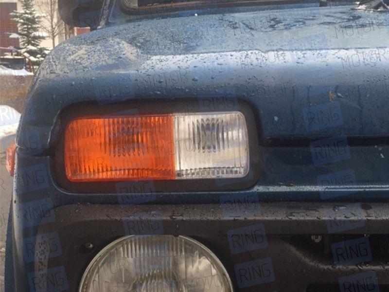 Подфарники нового образца оранжевый поворотник на Лада Нива 4х4_12